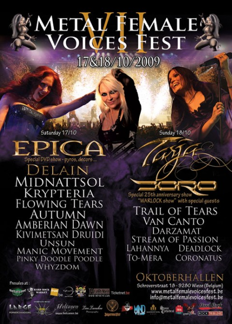 metal female voices 2009