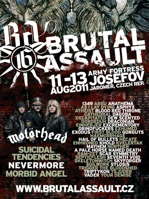 Brutal Assault 2011 lineup