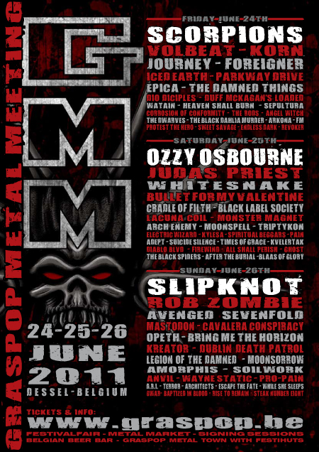 Grasspop 2011 lineup