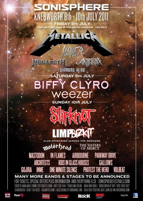 sonisphere 2011 lineup Gallery