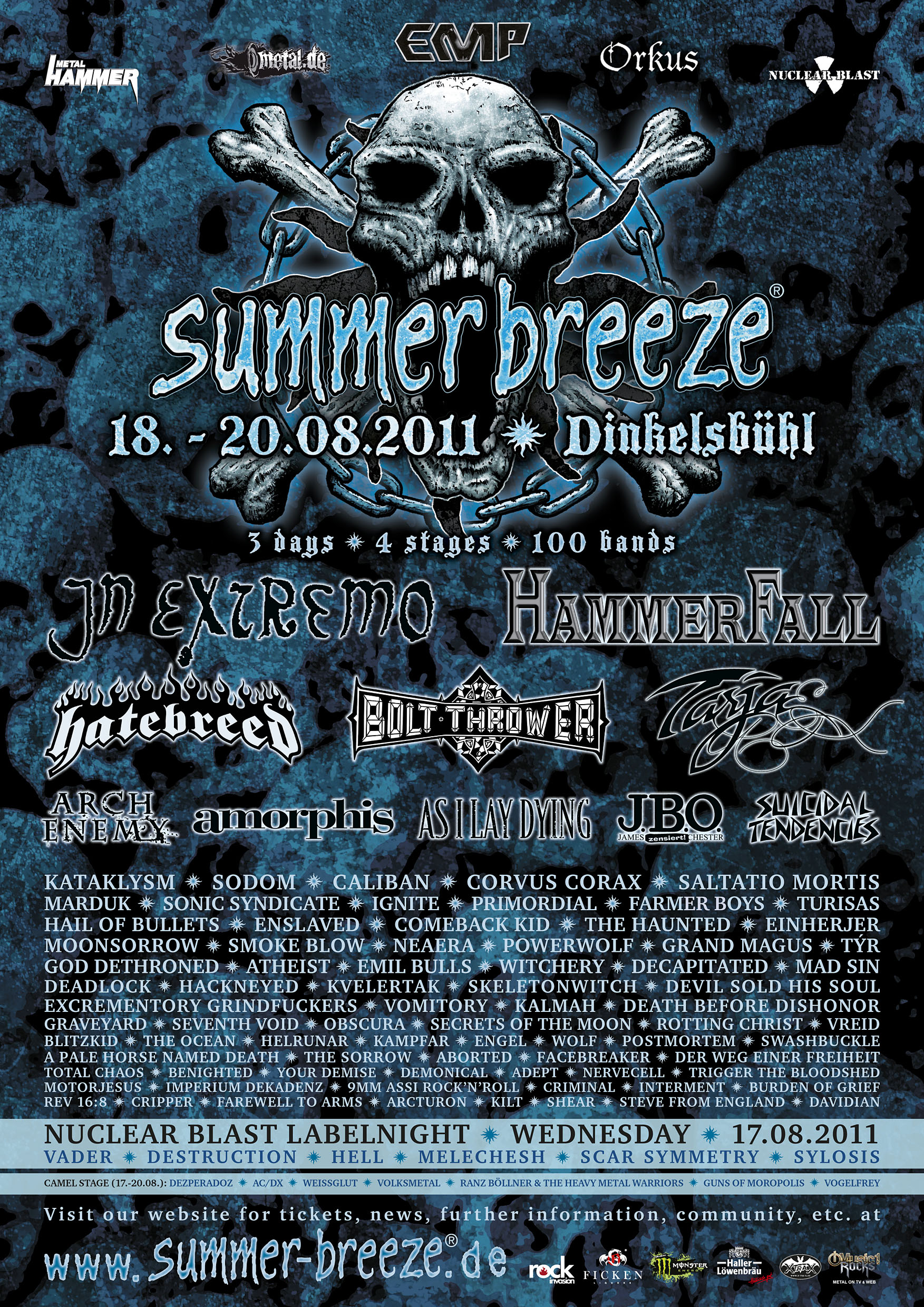 Summer Breeze 2011 Lineup