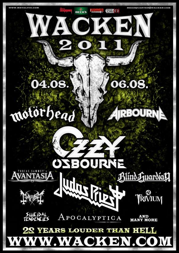 Wacken 2011 lineup