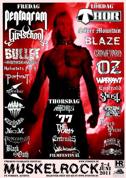 Muskelrock 2011 lineup