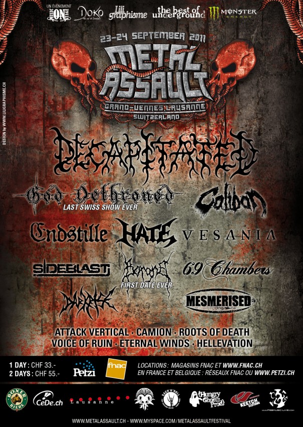 Metal Assault 2011 lineup