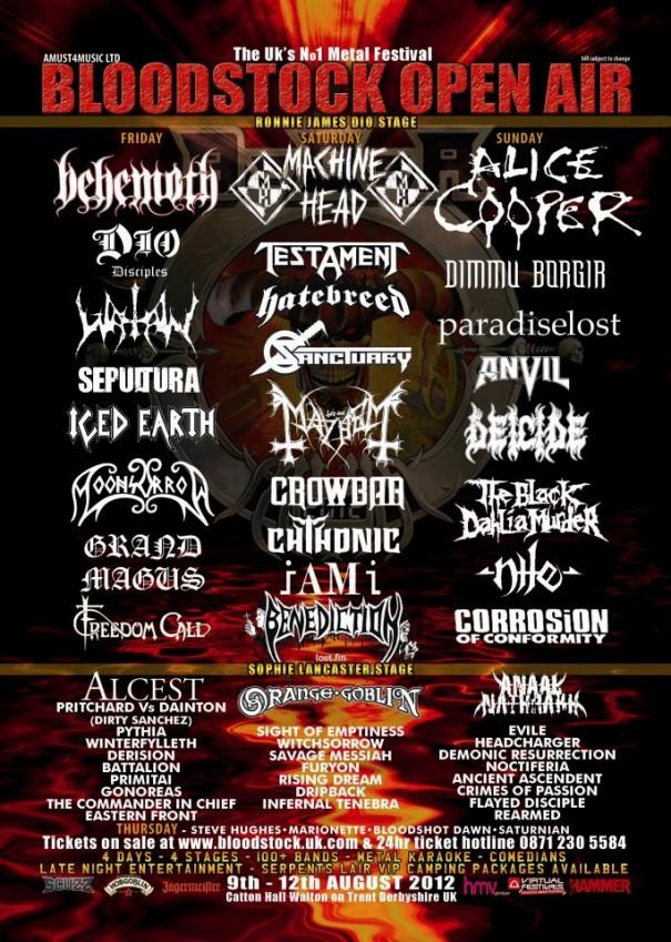 Bloodstock 2012 - Lineup 1