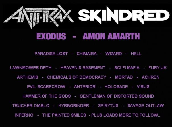 Hammerfest IV 2012 - Lineup