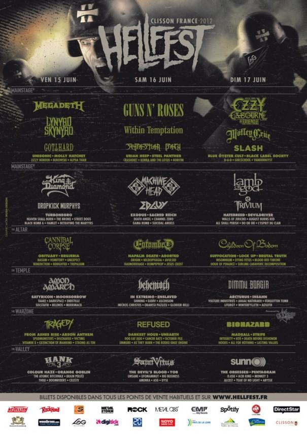 Hellfest 2012 - Final Lineup 1