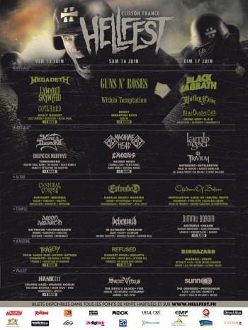 Hellfest 2012 - Final Lineup