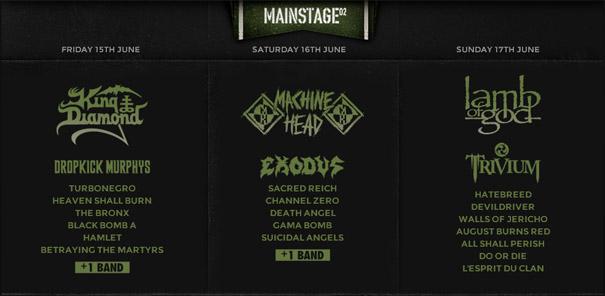 Hellfest 2012 - Running Order - Mainstage 02