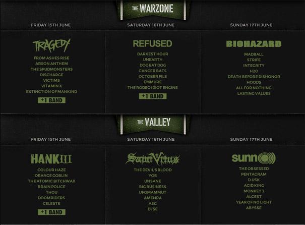 Hellfest 2012 - Running Order - Warzone - Valley