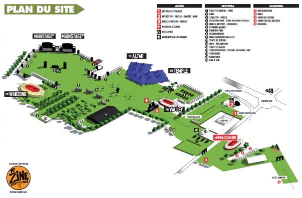 Hellfest Festival Map