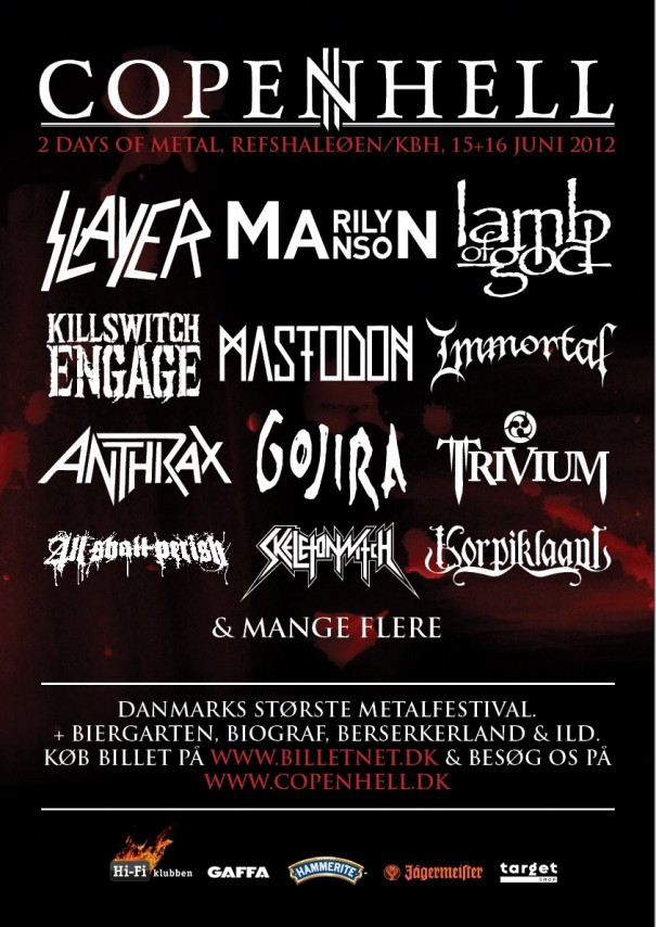 Copenhell 2012 Lineup
