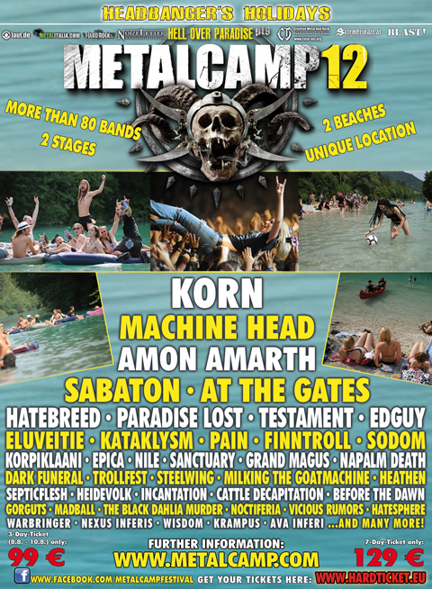 Metalcamp 2012 Lineup