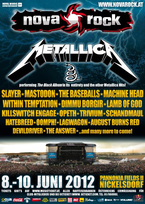 Nova Rock 2012 Lineup