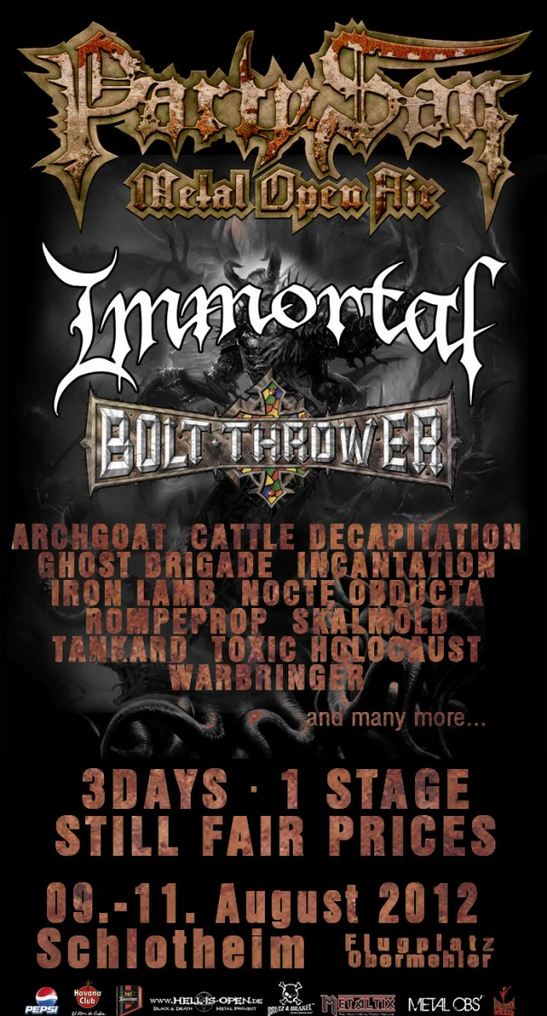 Party San Metal Open Air 2012 Lineup