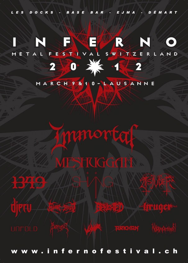 Inferno Festival Switzerland 2012 - Lineup