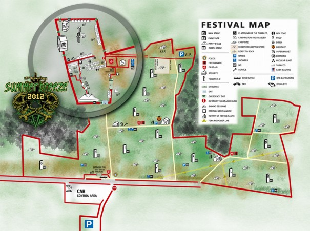 Summer Breeze 2012 Fest Map