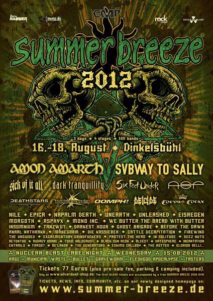Summer Breeze 2012 Festival Lineup