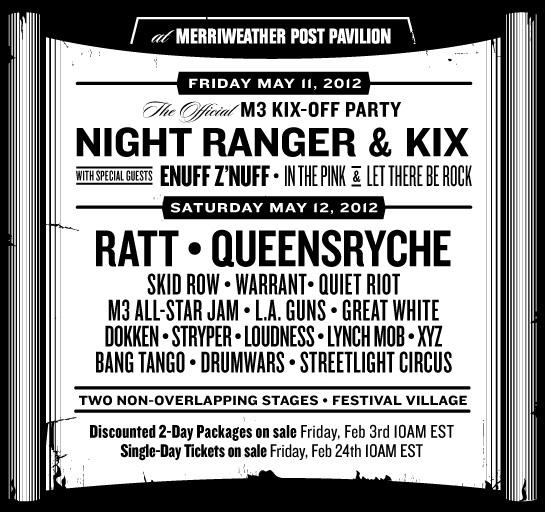 M3 Rock Festival LineUp 3