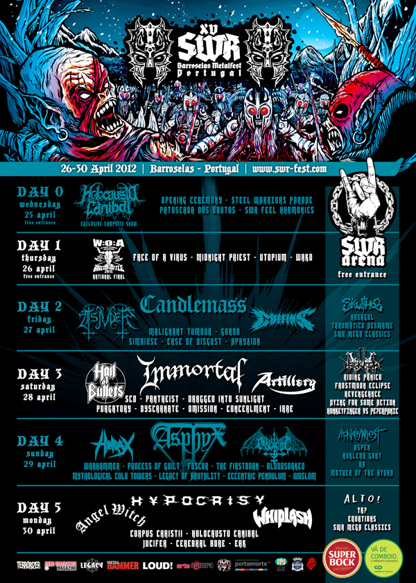 SWR Barroselas Metalfest 2012 Lineup