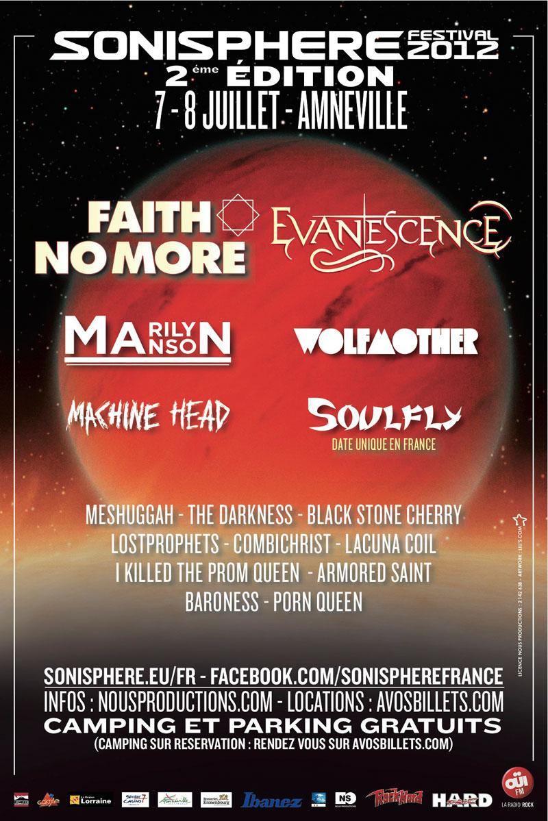 Sonisphere 2012