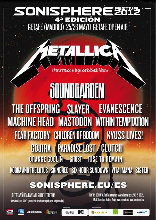 Sonisphere Spain 2012 - Lineup