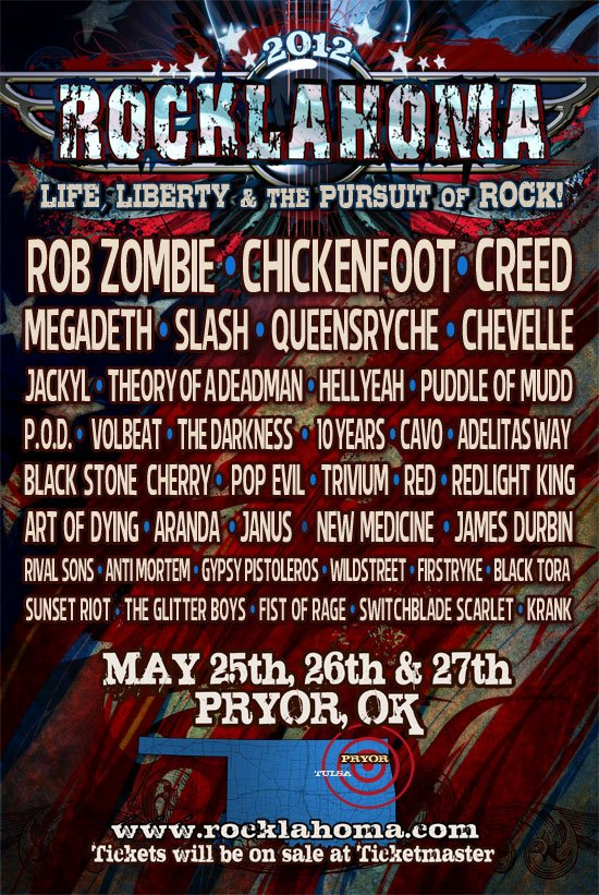 Rocklahoma 2012 Lineup
