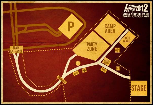 Loud Festival 2012 Map