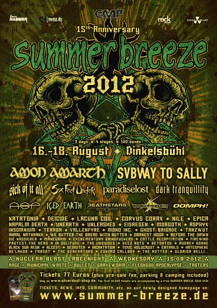 Summer Breeze 2012 Lineup