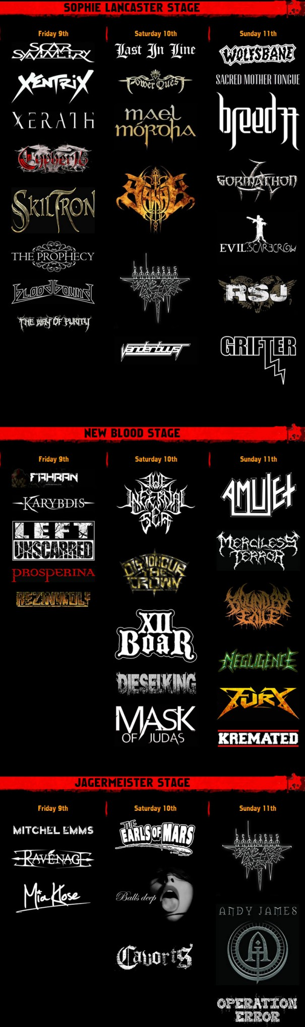 Bloodstock 2013 Lineup 2