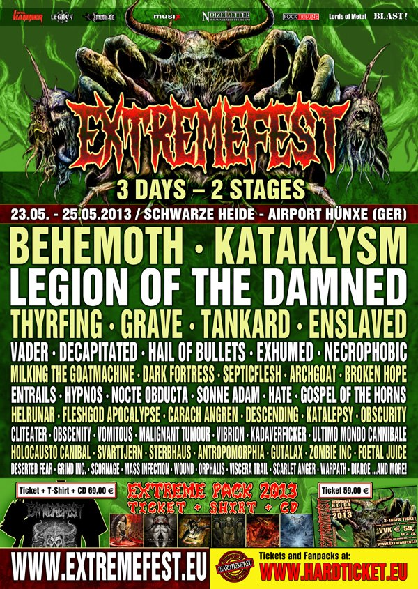 Extremefest 2013 Lineup