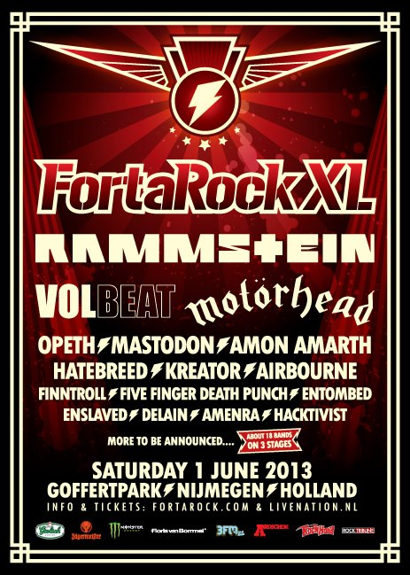 Fortarock 2013 Lineup