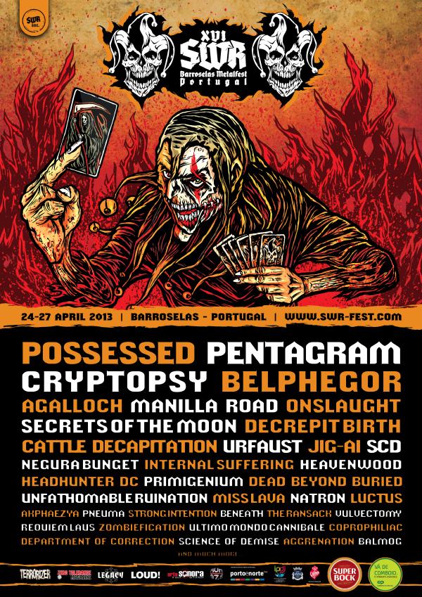 SWR Barroselas Metalfest XVI Lineup