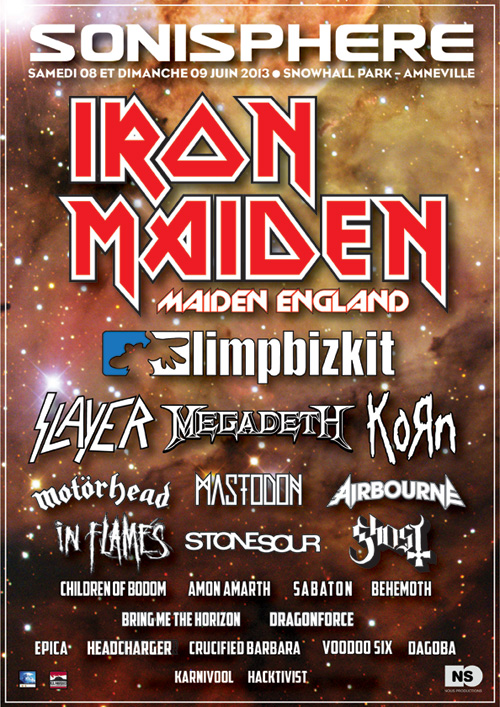Sonisphere France 2013 Lineup 3