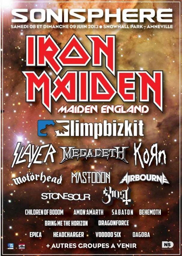 Sonisphere France 2013 Lineup