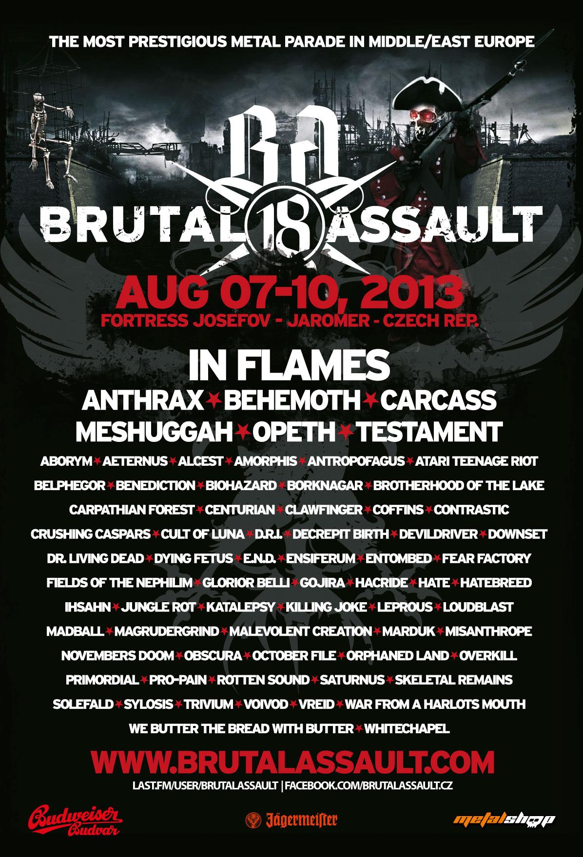 Brutal Assault 2013 Lineup