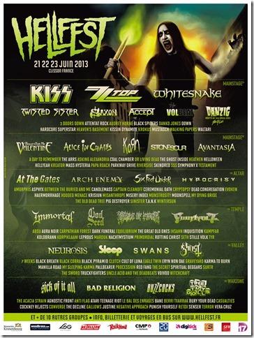 Hellfest 2013 Lineup