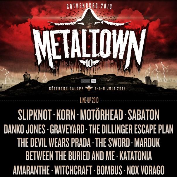 Metaltown 2013 Lineup