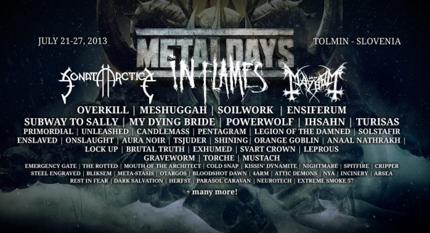 MetalDays 2013 Lineup