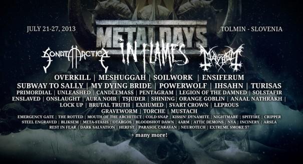 MetalDays 2013 Lineup