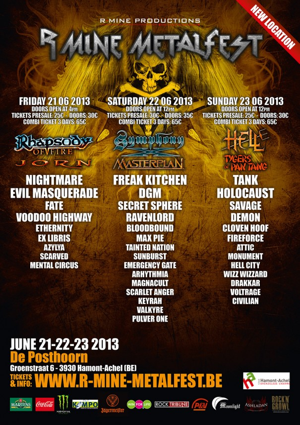 R-Mine Metalfest Lineup 2013