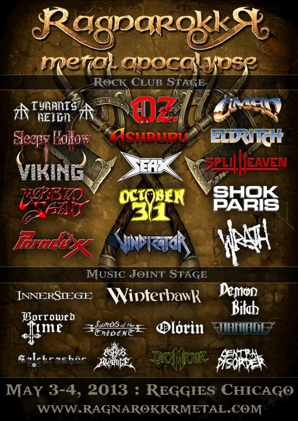 Ragnarökkr Metal Apocalypse 2013
