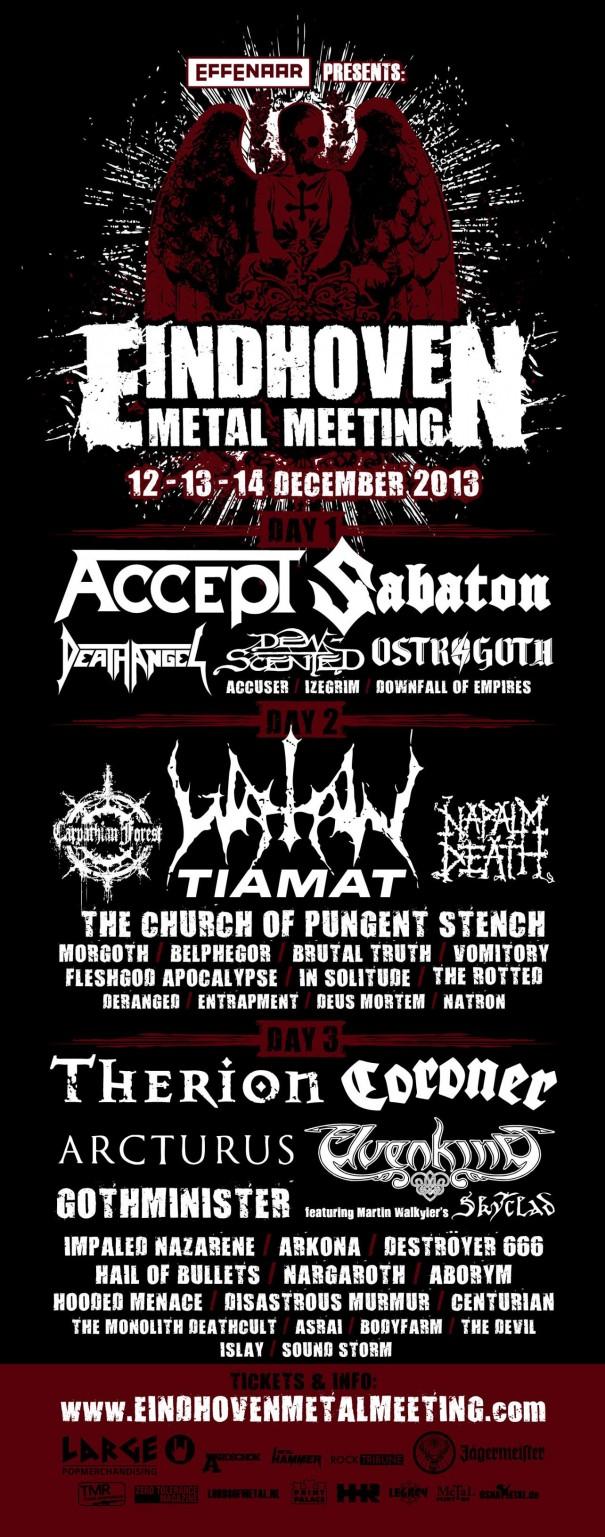 Eindhoven Metal Meeting 2013 Lineup 2