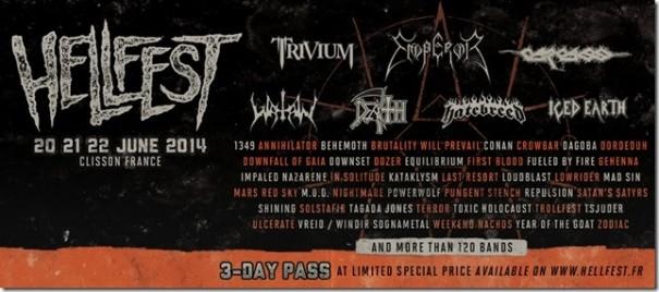 Hellfest 2014 Lineup 1