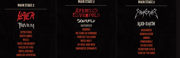 Hellfest Schedule 2014 Main Stage 2