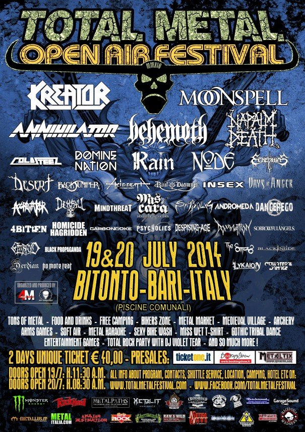 Total Metal Open Air Metal Festival 2014 Lineup
