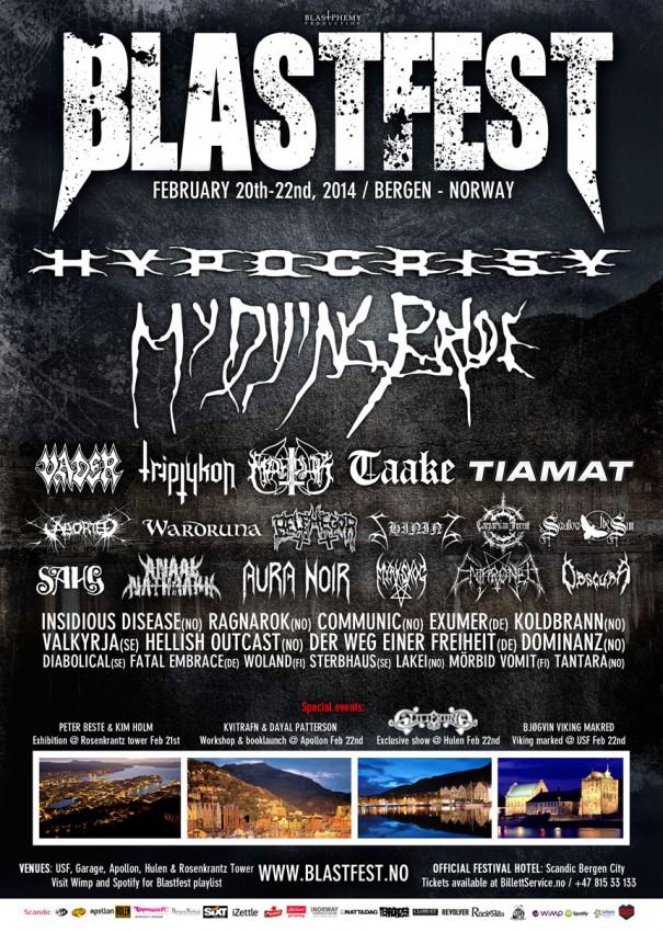 Blastfest 2013 Metal Festival Lineup