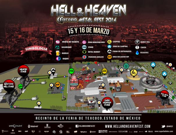 Hell&Heaven Fest 2014 Map