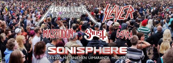 Sonisphere Finland 2014 Lineup