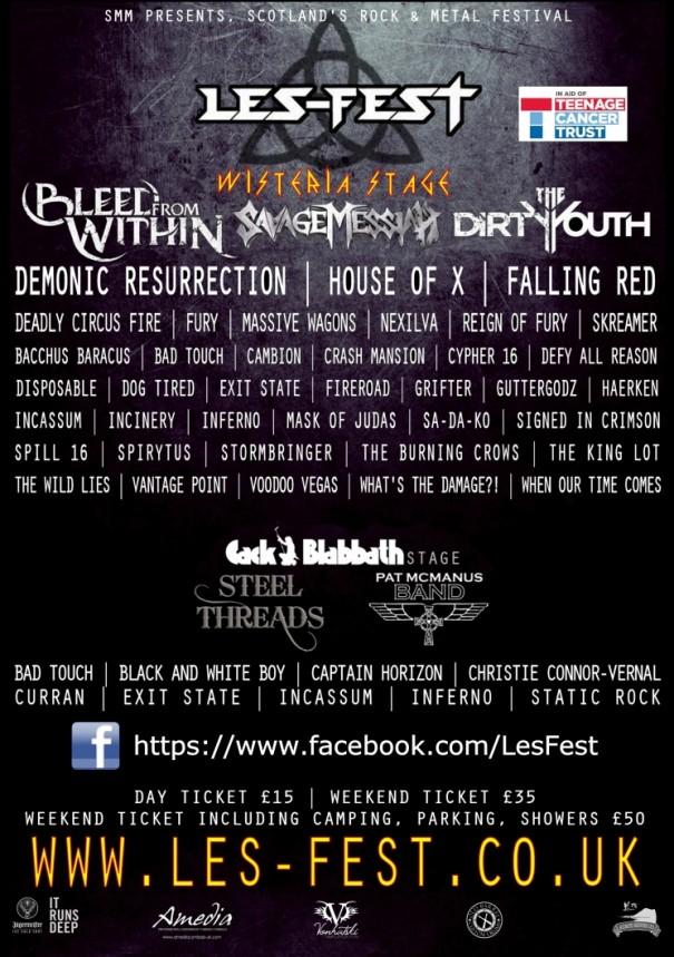 Les-Fest 3 Lineup